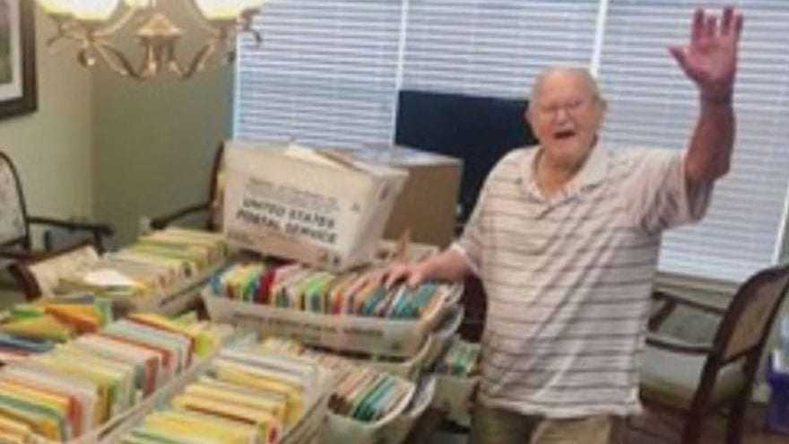 Image result for World War II Vet Requests 100 Cards for His 100th Birthday, Receives 100,000+
