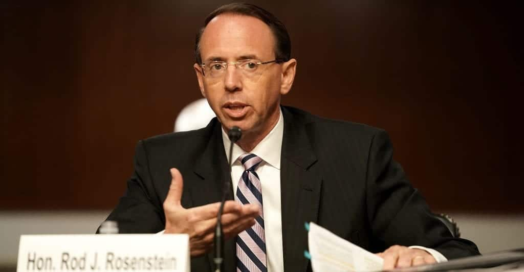 Former Deputy Attorney General Rod Rosenstein
